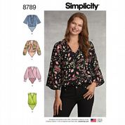 8789 Simplicity Pattern: Misses' Bodysuits with Blouse Variations